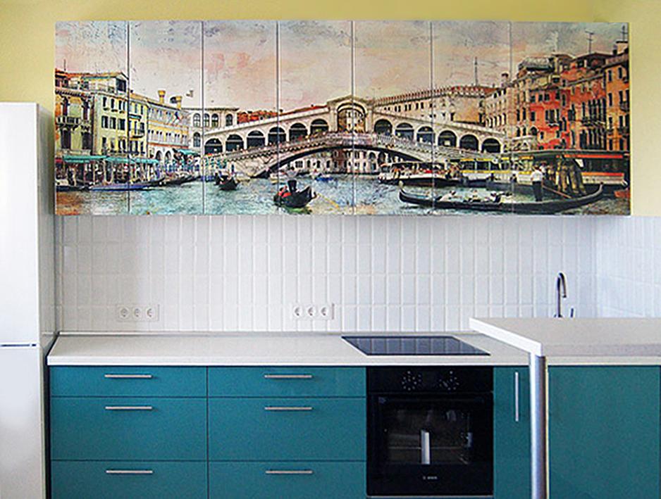 Кухонные фасады МДФ с фотопечатью2