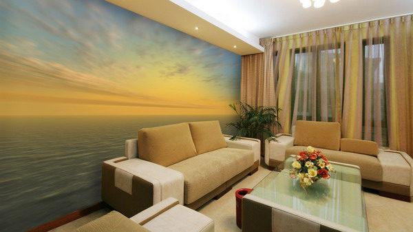 Фотообои в гостиную | Море и закат от Арт-Принт