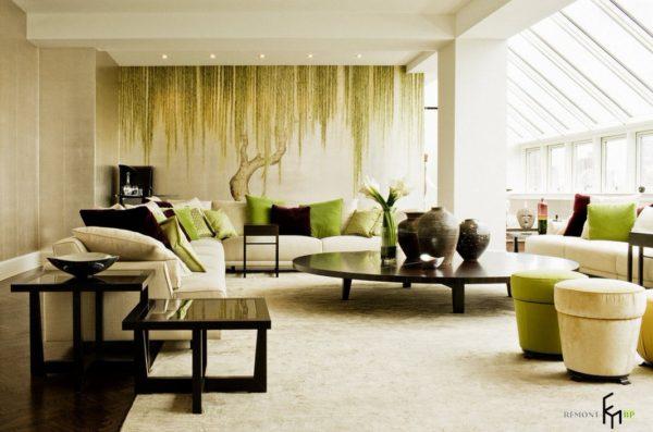 Фотообои в гостиную в светлых тонах - Арт-Принт
