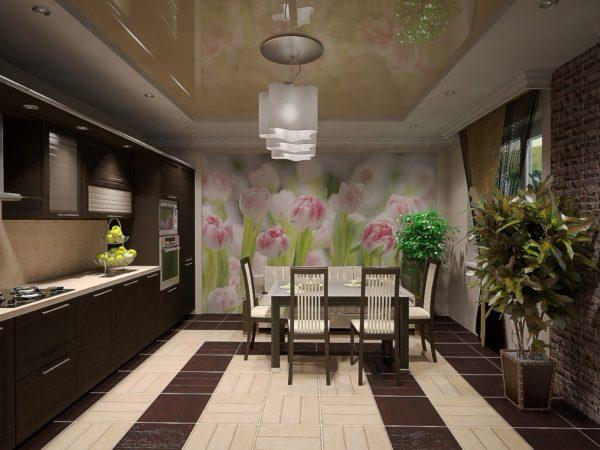 Фотообои в кухню с цветами - стильное решение от Арт-Принт