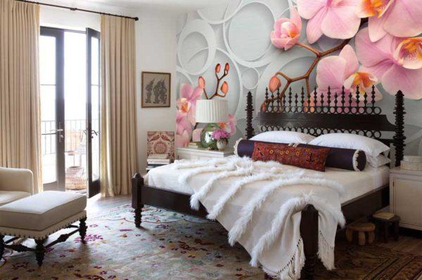 Фотообои в спальню с цветами - лучшее от Арт-Принт