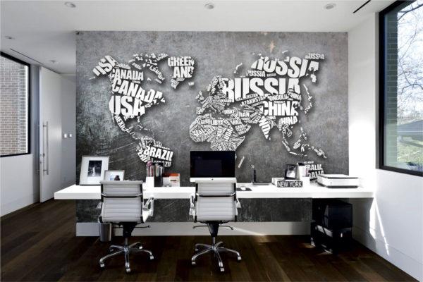 Фотообои для офиса - карты мира от Арт-Принт