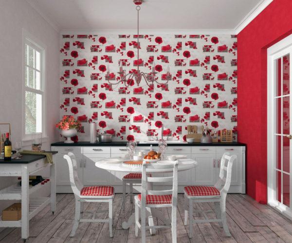 Красные фотообои в кухню - Арт-Принт