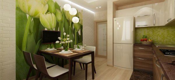 Фотообои в кухню с тюльпанами - Арт-Принт